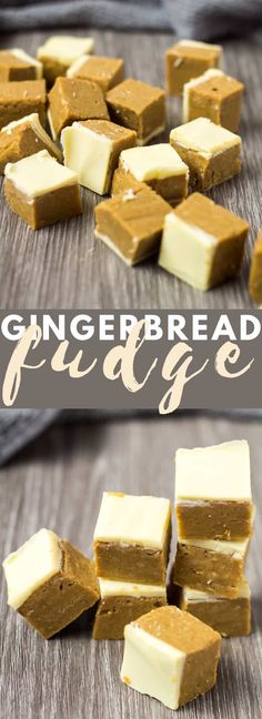 Gingerbread Fudge - Gingerbread Fudge - Deliciously creamy gingerbread fudge that is made in the microwave loaded with flavour and finished off with a white chocolate topping! Winter Desserts, Great Desserts, Holiday Desserts, Holiday Recipes, Delicious Desserts, Christmas Recipes, Holiday Treats, Christmas Nibbles, Winter Treats