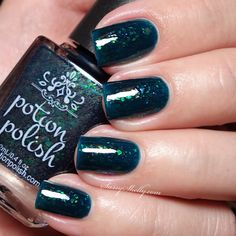 Potion Polish Teal the Leaves Fall - Fall for Me Collection swatches | Sassy Shelly