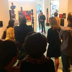"""Amazing turn out tonight for @dickjemison's solo show """"Limelight."""" His eye for color is poetic and his vibrant pallet engages you to linger. Stop by tomorrow to see for yourself in person! #gallerystroll #dickjemison #artofthewest"""