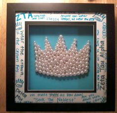 Crown Pearl Picture Frame for my little :) Zeta Tau Alpha