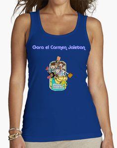 Camiseta chica tirantes, Fiestas del Carmen, en 4 colores por solo 20,90€