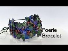 ▶ Faerie cuff bracelet - polymer clay TUTORIAL by Diav Draconia