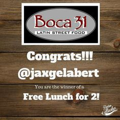 @jaxgelabert congrats!!! You are our winner of a free lunch for 2 @boca31.denton! Enjoy your lunch! I'll DM you the details.  Results by RandomPicker.com #boca31 x #dentonslacker #giveaway #denton #dentontx #dentontexas #dentonite #dentonfood #unt #twu #doingitdenton #wearedenton #wedentondoit #wddi #discoverdenton #scoutdenton #dentonlocaldentonproud #dentonproud #empanadas #tacosofdenton