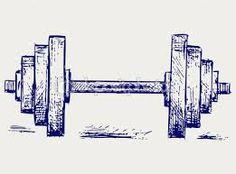 Resultado de imagem para halteres desenho vetor