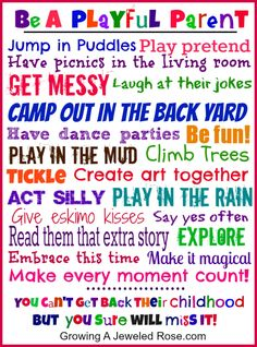 Be a playful parent!