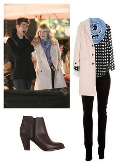 """Gwen Stacy (Emma Stone) - The Amazing Spider-Man 2"" by oliveboliviak ❤ liked on Polyvore featuring J Brand, Sperry Top-Sider, Burberry and Frye"