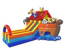Noah's Ark Inflatable Slide Inflatable Slide, Cowboy Birthday, Ark