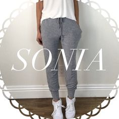 • Reserved • for Sonia • Grey Skinny Joggers (S) • Perfect White Tee (S) Other