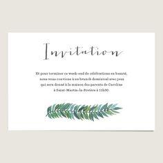 Carte invitation mariage aquarelle : Romarin www.dioton.fr