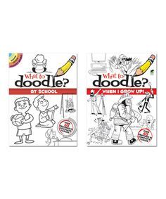 Love this What to Doodle? At School & When I Grow Up Paperback Set on #zulily! #zulilyfinds