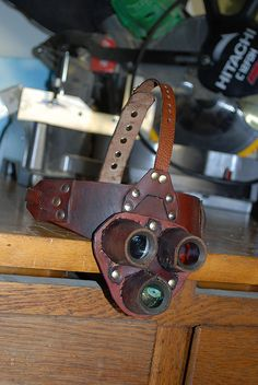 Multi Lens Monicle, Steampunk Monocle, Mad Science Headgear by Double A Stitching, via Flickr