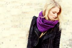 Circle Infinity Scarf  Heather Purple by BlueBirdsFlyBoutique, $36.00