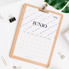 calendario 2019 junio Calendar 2019 Printable, Print And Cut, Projects To Try, Notebook, Bullet Journal, Pattern, Journal Ideas, Joker, Templates
