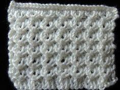 Cómo tejer el Punto Calado Fantasía / Aprende a tejer | Crochet y Dos agujas - Patrones de tejido Baby Stitch, Stitch 2, Lace Knitting, Knitting Stitches, Knitting Patterns, Zen Garden Design, Crochet Video, Patent Prints, Christmas Diy