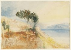 Lausanne and Lake Geneva, from the West, 1841. Joseph Mallord William Turner