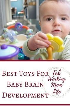 The best toys for brain development for your child will vary depending on their age. Brain toys for babies help them find new ways to develop their senses. As babies become toddlers, they can use more toys than they did when they were infants. You will notice that your child's play includes make-believe and sorting objects. They can use some of the same toys they did as infants but in new ways. Best Toys For Brain Development (1, 2, & 3-Year-Olds)   Brain Development Toys for a 1-Year-Old