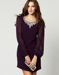 Lipsy Sequin Embellished Shift Dress