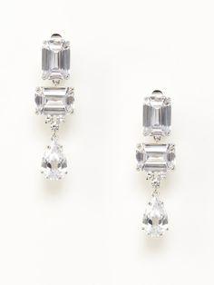 Multi Shape Triple Drop Earrings by CZ by Kenneth Jay Lane on Gilt.com
