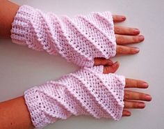 PATTERN - Crochet Whipped Fingerless Gloves - Free International Shipping - LoveItSoMuch.com
