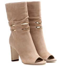 Jimmy Choo - Mysen suede open-toe boots