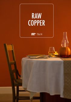Raw Copper BEHR paint is sure to take center stage in your next room makeover. This cozy yet robust color choice is perfect whether your personal style is traditional or modern—and it's a great choice if you're looking to make over your dining room.