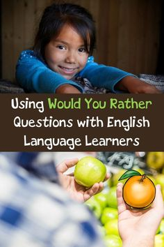 Ideas on how to use would you rather questions with English Language Learners. Plus a free set of Would You Rather Task Cards. English Language Learners, Spanish Language Learning, German Language, Japanese Language, Language Arts, Teaching French, Teaching English, English Teachers, English Class