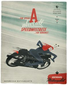 """Speed Mistress"" Great art and type."