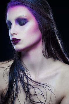 contour with color; almost any color, but shades of purple proves for an especially darkly ethereal effect.