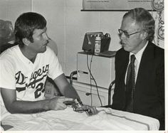 It's familiar now that it has saved so many pitching careers, but when Dr. Frank Jobe performed experimental surgery on Los Angeles Dodgers pitcher Tommy John in 1974, it was anything but routine. Dr. Jobe transplanted a tendon from John's right forearm into his left elbow, and 18 months later he was pitching again, his career saved by the innovative procedure that now bears his name.