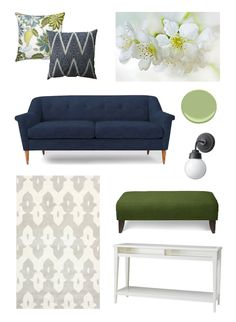 How to mix blue and green for a living room without making the space feel dark.