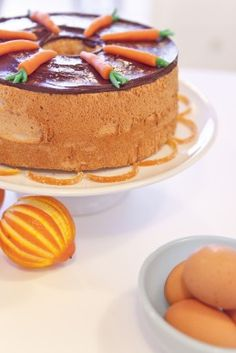 gluten free angel food cake with candied orange and chocolate