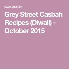 Diwali Food, Chutney, Curry, October, Indian, Street, Recipes, Curries, Rezepte