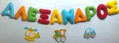 bold colours for Alexandros Bold Colors, Colours, Felt Name, Garlands, Kids Room, Decor, Wreaths, Room Kids, Decoration
