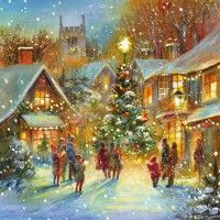 Village Glow Christmas Cards