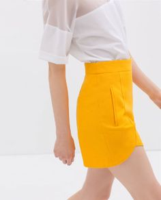 SHORTS WITH FRONT CUTS from Zara