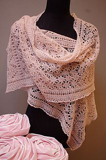 Free knitting pattern for K4C lace shawl wrap | Free Lace Shawl and Wrap Knitting Patterns at http://intheloopknitting.com/lace-shawl-and-wrap-knitting-patterns/