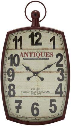 """UMA Inc Mtl Wd Wall Clock 19""""W, 33""""H"""