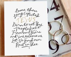 """""""Come, Thou Long-Expected Jesus"""" - A lovely reminder of hope for the Advent and Christmas season and throughout the year. (instant digital download)"""