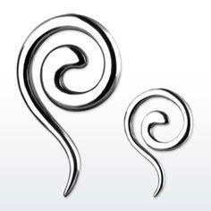 Stainless Steel Swirls Ear Taper. So simple, I love it.