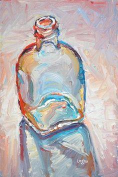 """Debs Bottle"" - Original Fine Art for Sale - © Raymond Logan"