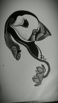 Puffin and pitcher plant both are native to newfoundland, their national bird and flower, i paid for this to be drawn one of my tattoo ideas ....opinions wanted!!