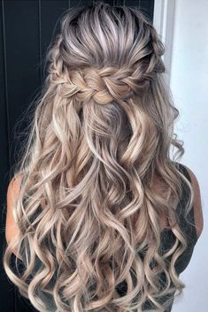 Braid Half Up Half Down, Wedding Hairstyles Half Up Half Down, Braided Hairstyles For Wedding, Wedding Hair Down, Box Braids Hairstyles, Bride Hairstyles, Down Hairstyles, Hairstyle Braid, Half Updo