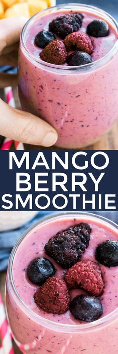 This Mango Berry Smoothie combines the delicious flavors of juicy mango and sweet berries in one refreshing drink. Perfect for breakfast or an afternoon snack!