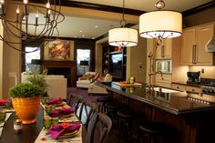 Interior Design Kitchen Family Room Home Reveal--Robeson Design. I loooove the colors of the family room.