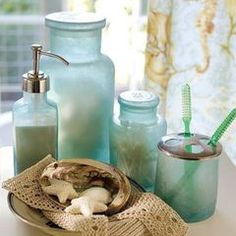 tropical bath and spa accessories by Pottery Barn