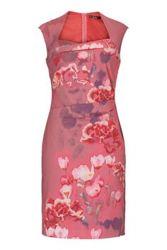 745bada800ee Cocktailkleid Blüten. Kleid Blumen Satin Vera Mont ...
