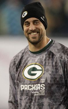 Aaron Rodgers love that smile!