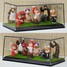 """С помощью боксов S&B CreAtive Studio можно очень эффектно оформить коллекции Kinder Surprise """"Маша и Медведь"""" серия 3  #sbbox #lego #legosimpsons #legoland #коллекционеры #коллекции #коллекционирование #legostagram #legosimpsonsminifigures #legos #lego #legocars #cars #cool #deagostini #modelcar #ritmonex #машаимедведь #legostagram #мульты #kids by sbbox"""