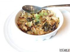 Recept: Purjo- och vitkålsgratäng