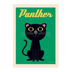 We are huge fans of designer Ingela Arrhenius - and we can't get enough of this Panther poster. He looks great in a colourful home! Add the Tiger poster too, they look great as a pair.